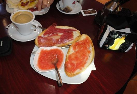 Pan con tomate en Zafra